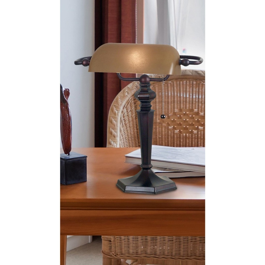 Kenroy Home 20610ORB Chesapeake Banker Lamp
